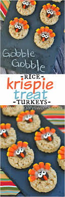 turkey rice krispie treats shugary