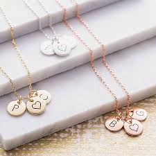 Mothers Necklace With Initials Triple Letter Disc Necklace By J U0026s Jewellery Notonthehighstreet Com