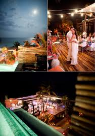 a colorful mexico beach bash at be tulum