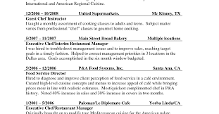 resume resume sample for cook awesome cooking resume restaurant