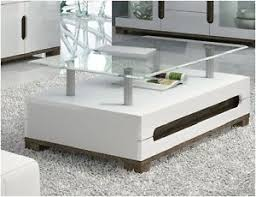 white gloss side table white gloss coffee table glass top trendy funky living room