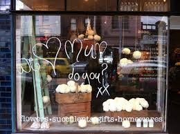 this is a window display for s day storefronts