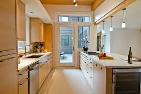 give a stylish look to your kitchen with kitchen ideas narrow