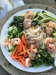 thai shrimp u0026 rice noodle salad an affair from the heart an