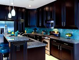 tansitional style las vegas kitchens design with 2 tier black