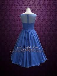 retro 50s 60s royal blue tea length prom formal dress ieie bridal