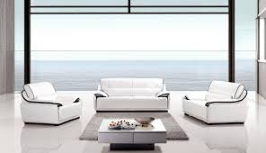 elegant modern white leather living room furniture sets white