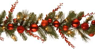 national tree co decorative pre lit christmas mixed garland