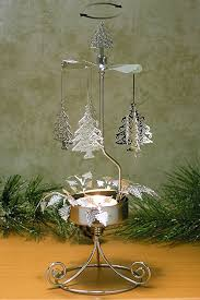 tree candle holder spinning candle with