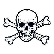 skull and crossbones temporary