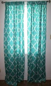 Gray And Turquoise Curtains Curtains With Turquoise Sheer Rod Pocket Single Curtain Panel