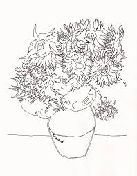 free coloring pages of van gogh sunflower 16662 bestofcoloring com