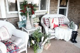 rustic farmhouse christmas porch the glam farmhouse
