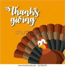 happy thanksgiving card turkey icon stock vector 517184773