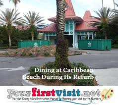 the dining room at little palm island dining options at caribbean beach during its refurb