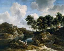 file jacob van ruisdael river landscape with a castle on a high