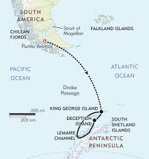 Antartica Map Antarctica Air Cruise Itinerary U0026 Map Wilderness Travel
