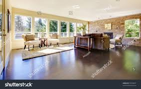 Stone Wall Living Room by Beautiful Modern Large Bright Living Room Stock Photo 99750047