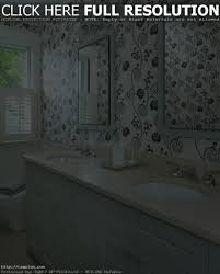 brilliant bathrooms with wallpaper for interior designing home
