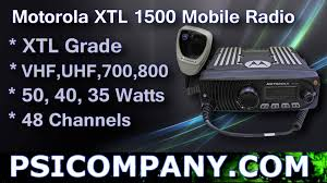 motorola xtl 1500 mobile radio overview youtube