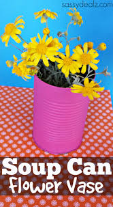 Flower Vase Crafts Diy Soup Can Flower Vase Craft Crafty Morning