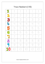 free math worksheets number tracing and writing megaworkbook