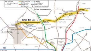 Dart Train Map Contractors Line Up For 600m Dart Cotton Belt Line Project