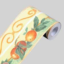 Wallpaper Borders For Bedrooms Lovefaye Fruit Orange Wallpaper Border Self Adhesive Wall Covering