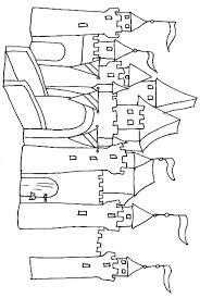 dessin ã colorier chateau