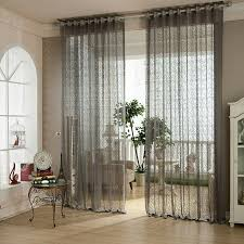 Grey Sheer Curtains Exquisite Jacquard Grey Sheer Curtains For Living Room High