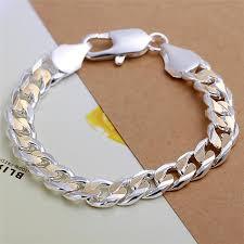 sterling silver bracelet designs images Cool design 925 sterling silver plated gold chain bracelet jpg