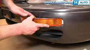 1999 toyota camry turn signal light assembly how to install replace front bumper signal light toyota camry 95 96