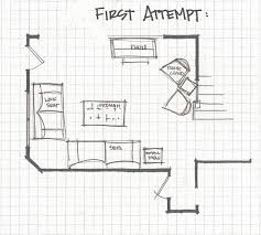 living roomre floor plans front of the half wall because there is
