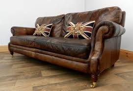 Ebay Brown Leather Sofa Style Dyed Cigar Brown Antique Leather Chesterfield