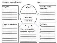 biography graphic organizer worksheets free biography outline this free reading activity has the students fill