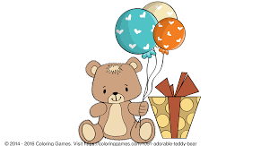 adorable teddy bear coloring games coloring pages