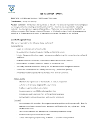 Resume Job Description barista job description resume berathen com