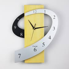 3d wall clock creative wall watch modern design hang clock