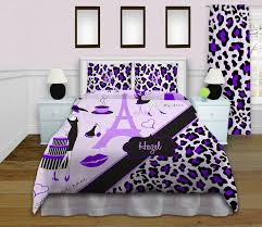 Cheetah Twin Comforter Bedding Cool Paris Themed Bedding