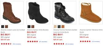 womens ankle boots sale jcpenney arizona s boots as low as 16 99