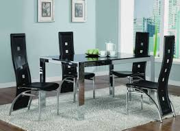 dining wonderful glass stainless steel dining room tables