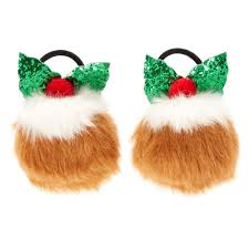 bobbles hair christmas pudding pom pom hair bobbles s