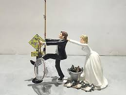 fishing wedding cake toppers fish fishing wedding cake topper humor groom pole pail