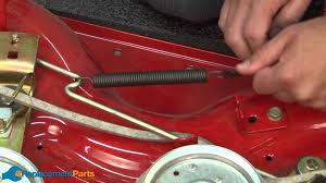 how to replace the extension spring on a troy bilt pony lawn