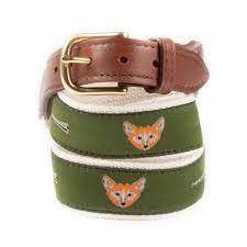 fox ribbon fox and horn ribbon belt knot clothing belt co