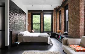 sophisticated bedroom designs which applying with a brick and wooden target point minimalist gray bedroom decor union studio