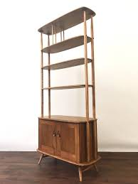 retro ercol room divider giraffe bookcase shelving mid century