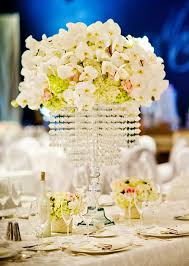 tall manzanita branch wedding centerpiece with hanging crystals