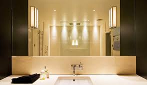 bathroom modern bathroom lighting in cream themed bathroom with