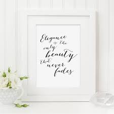 wedding quotes calligraphy hepburn elegance quote print by sweetlove press